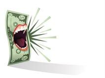 金钱谈话 免版税库存照片