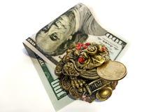 金钱财务投资额 库存照片