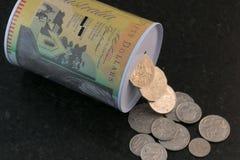 金钱银行 库存图片