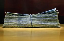 金钱韩国人货币 库存图片