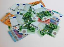 金钱,欧元,船,现金,票据 图库摄影