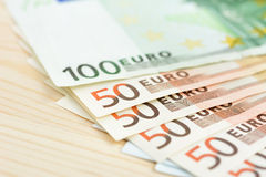 金钱,欧洲货币(EUR)钞票 免版税库存图片