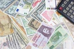 金钱,经济引擎  库存照片