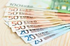 金钱, Euro& x28; EUR& x29;票据 图库摄影