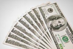 金钱货币美元-作为背景的$ 100 免版税库存图片