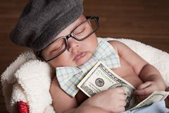 金钱! 库存图片