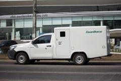 金钱Guardforce Company交付卡车  库存图片