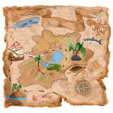 金银岛地图 库存图片