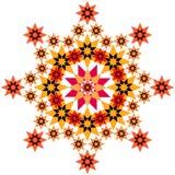 金银细丝工的橙色星形 库存图片