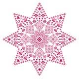 金银细丝工的红色星形 库存图片