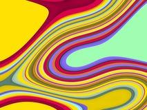 金银铜合金绿色桃红色红色蓝色流体线背景,抽象五颜六色的几何 皇族释放例证