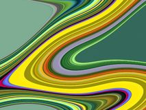 金银铜合金绿色流体线背景,抽象五颜六色的几何 向量例证