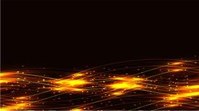 金银铜合金透明抽象光亮的不可思议的宇宙不可思议的能量标示,发出光线用强光,并且小点和光在黑暗发光 皇族释放例证