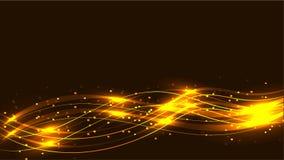 金银铜合金透明抽象光亮的不可思议的宇宙不可思议的能量标示,发出光线用聚焦,并且小点和光由wa发光 向量例证