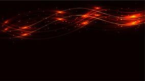 金银铜合金透明抽象光亮的不可思议的宇宙不可思议的能量标示,发出光线用聚焦,并且小点和光由wa发光 库存例证