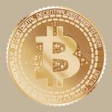金银铜合金Bitcoin 库存照片