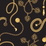 金链带样式时尚传染媒介设计 库存例证