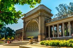 金门公园在旧金山,音乐Spreckles寺庙  库存照片