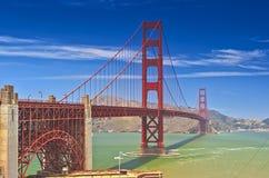 金门大桥在旧金山在世界上保持其中一个被拍摄的地方 库存图片