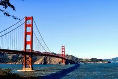 金门大桥的反射 免版税库存照片