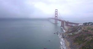 金门大桥的鸟瞰图 影视素材