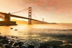 金门大桥,旧金山加利福尼亚美国 免版税库存照片