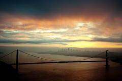 金门桥在黎明 免版税库存照片