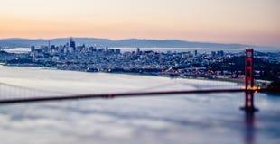 金门桥旧金山加利福尼亚西海岸日出 免版税库存照片