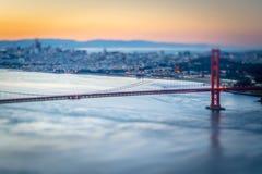 金门桥旧金山加利福尼亚西海岸日出 库存照片