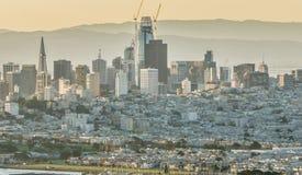 金门桥旧金山加利福尼亚西海岸日出 库存图片
