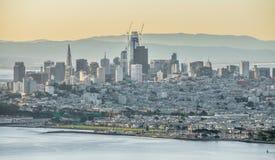 金门桥旧金山加利福尼亚西海岸日出 图库摄影