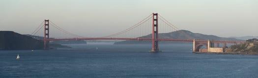 金门桥的全景图象 免版税库存图片