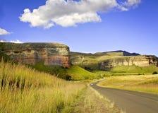 金门高地国家公园国立公园位于自由邦省,南非, 免版税库存照片