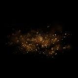 金闪烁的星光和bokeh 不可思议的尘土摘要backgro 皇族释放例证
