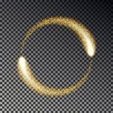 金闪闪发光圈子传染媒介 闪烁的星团光线影响 被隔绝的闪光圆的火花 Sparkl 向量例证
