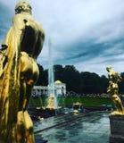 金雕塑 免版税库存图片
