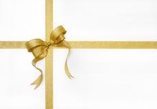 金黄丝带 免版税库存图片