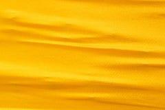 金黄丝绸布料 库存照片