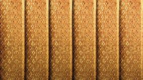 金黄丝绸有葡萄酒皇家样式背景 豪华织法纹理由泰国丝绸做了 图库摄影