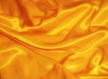 金黄丝绸 免版税库存图片