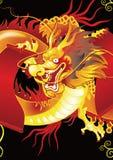 金黄中国的龙 免版税库存图片
