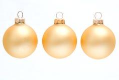 金黄中看不中用的物品的圣诞节 免版税库存照片