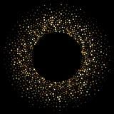金黄五彩纸屑圈子发光的闪烁微粒 皇族释放例证