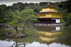 金黄京都寺庙 免版税库存照片
