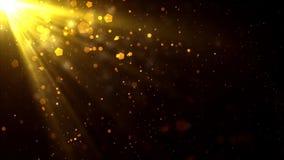 金黄光线微粒 向量例证