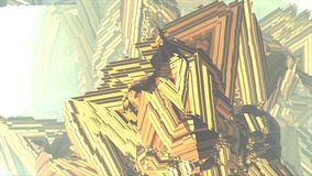 金黄分数维星运动财政商务交换概念艺术录影 向量例证