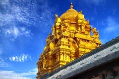 金黄印第安屋顶寺庙 库存照片