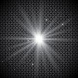 金黄发光的光线影响被隔绝的套对透明背景 与光芒和聚光灯的太阳闪光 焕发光线影响 sta 皇族释放例证
