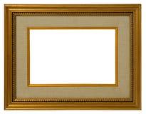 金黄古色古香的框架 免版税图库摄影