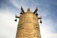 金黄响铃的佛教 免版税库存图片